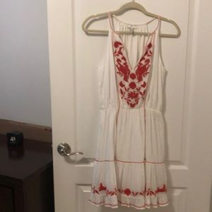 Dresses & Skirts - Josie XS white with red embroidery lined sundress